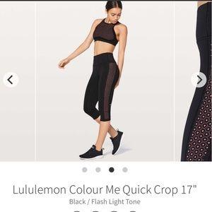 Lululemon Color Me Quick Crop